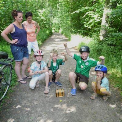 Teamevent geocaching radtour