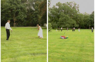 Brautpaar beim crossgolf