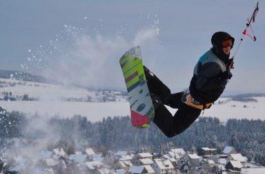 Snowkiten in Thüringen